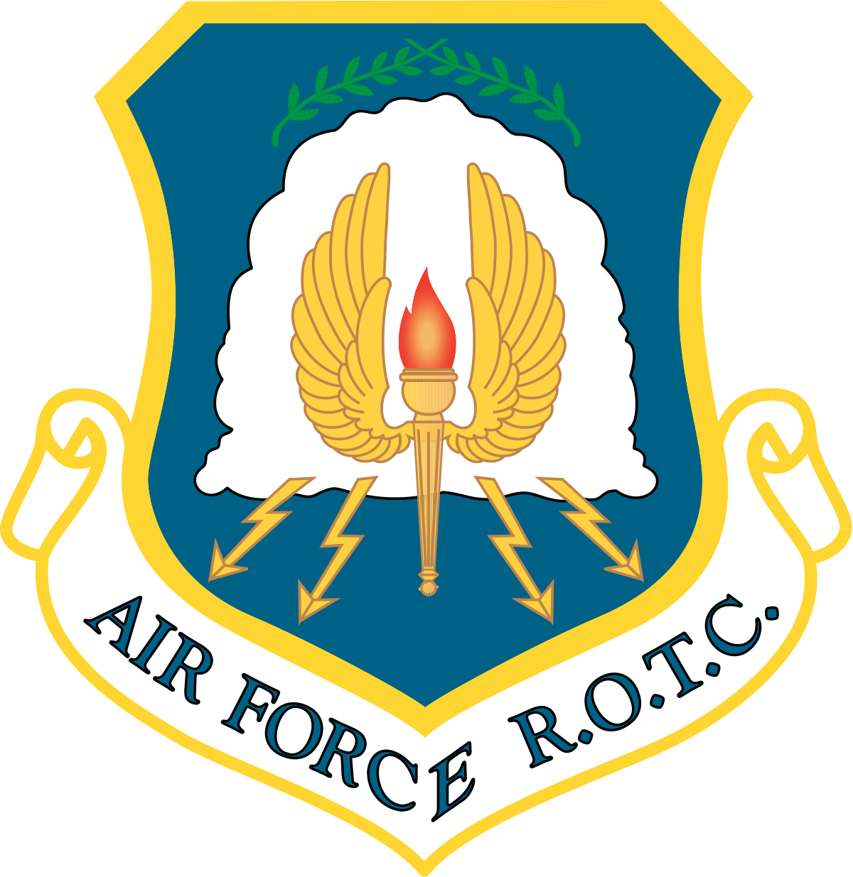 Air Force R.O.T.C. shield logo.